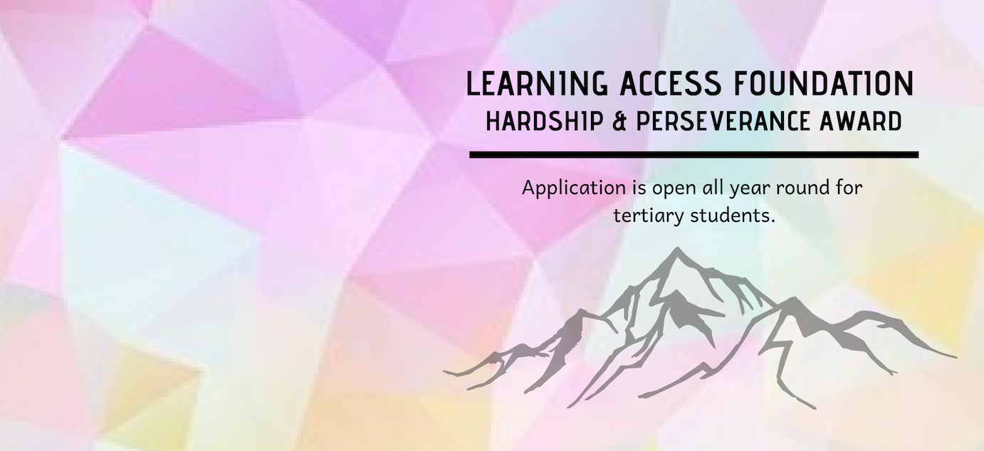 Copy of Copy of Learning Access Foundation Hardship & Perseverance Award